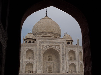 The Taj viewed from inside the guesthouse.