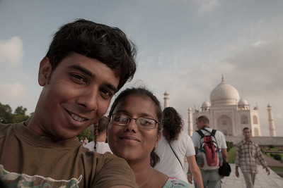 Sandeepa and Chetan at Taj Mahal in Agra, India