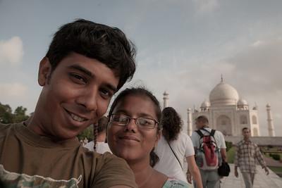 Sandeepa and Chetan at Taj Mahal in Agra, India