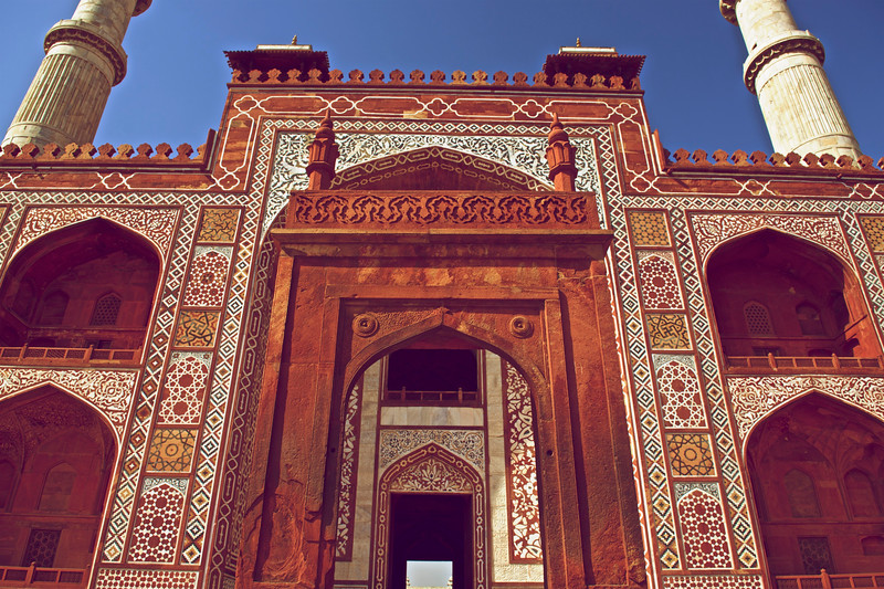 Entrance to Akbar's Tomb, Agra, India
