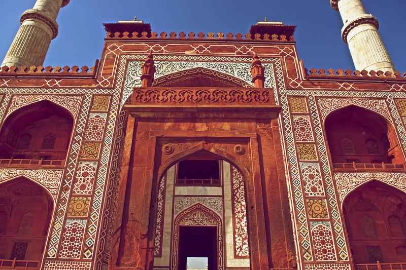 Entrance to Akbar's Tomb, Agra, India