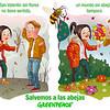 Greenpeace alerta por San Valentín de que sin abejas, no hay flores
