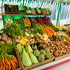 Fruits and Vegetables at Market Stand in Germany