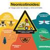 El riesgo medioambiental de los insecticidas neonicotinoides