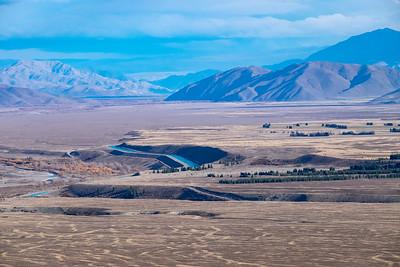High country land as seen from Mount John, Tekapo.