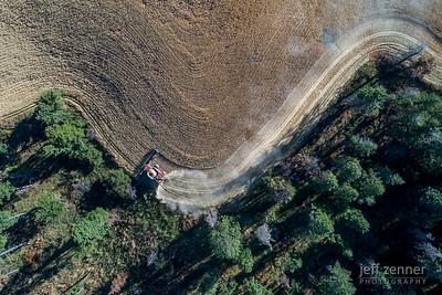 CaseIH/Case IH Combine Harvesting Wheat in Idaho!
