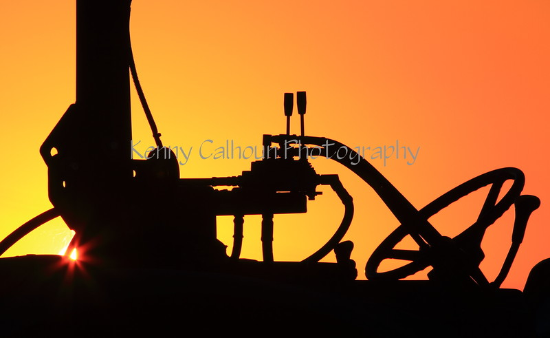 Tractor Sunset 1