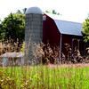 The big red barn in the great green field...