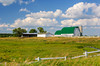A dairy barn and pasture near Wadena, Minnesota, USA.