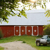 All-American Red Barn and Pick-up Truck.