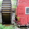 Waterwheel on a turn of the century mill.