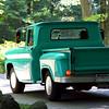 Fantastic vintage truck in blue.