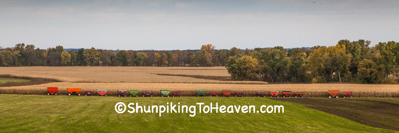 Fall Harvest Scene, Sauk County, Wisconsin