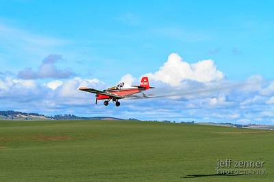 Crop Dusting - An aerial applicator flying a Thrush airplane to spray a field!