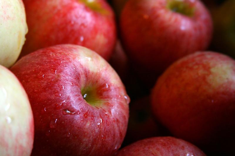 Apples, freshly washed.