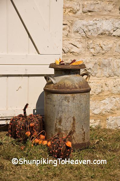 Milk Can in Autumn, Winneshiek County, Iowa