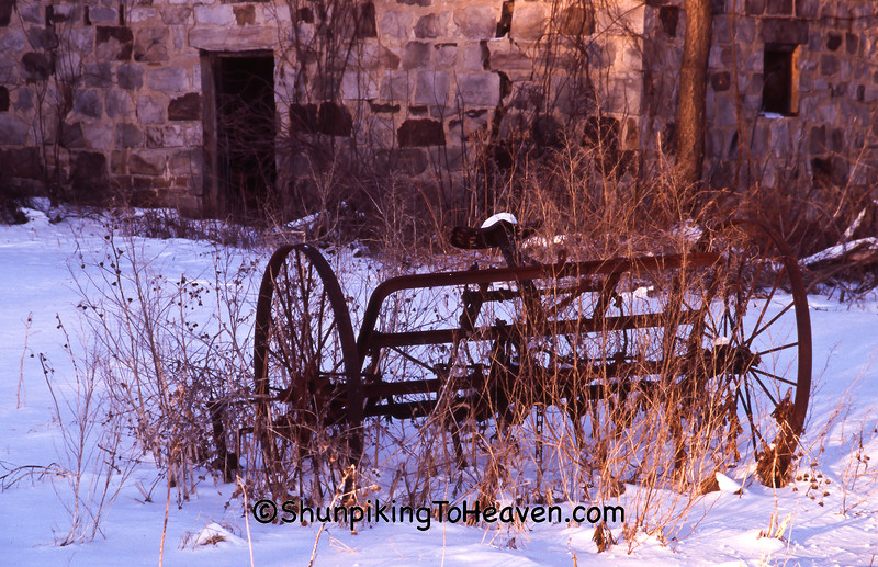 Antique Rake by Stone Hop House, Sauk County, Wisconsin