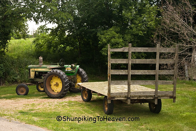 John Deer Tractor and Hay Wagon, Green County, Wisconsin