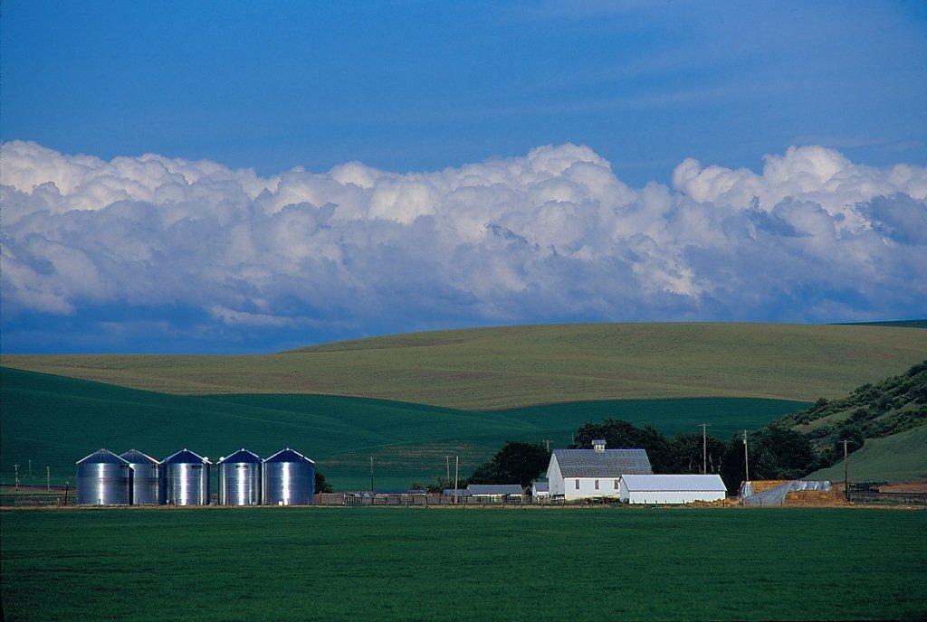 Farm & clouds Waitsburg 060601