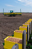 Spring planting on the Froese farm near Winkler, Manitoba, Canada.