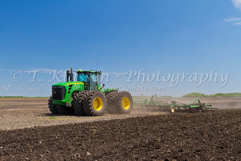 Spring cultivating on the Froese farm near Winkler, Manitoba, Canada.
