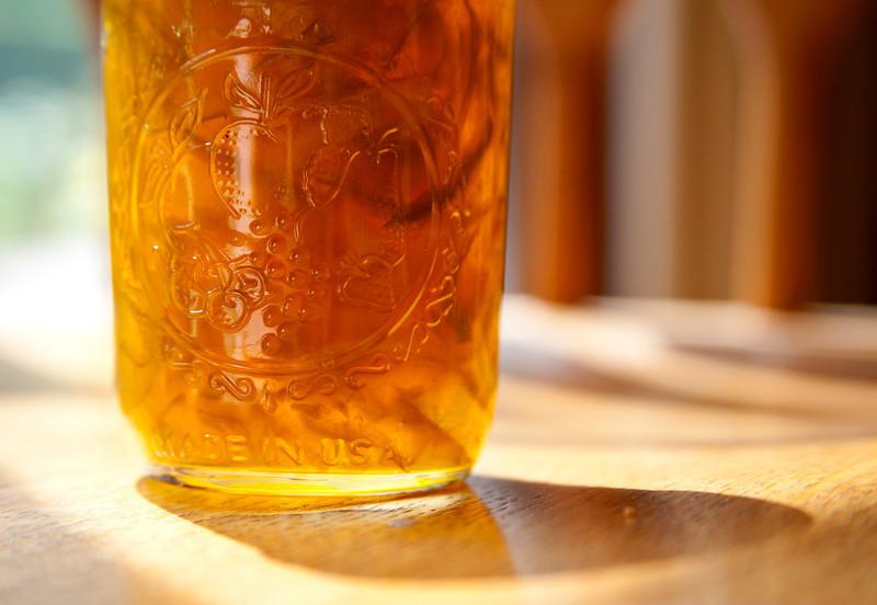 Jar of Homemade marmalade. Delicious!