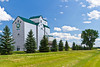 The Manitoba Pool Elevators at Gretna, Manitoba, Canada.