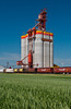The Pioneer grain inland distribution terminal near Brunkild, Manitoba, Canada.