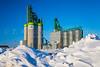 The Cargill grain terminal in winter at Morris, Manitoba, Canada.