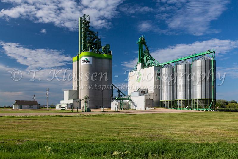 A Cargill inland grain terminal at Morris, Manitoba, Canada.