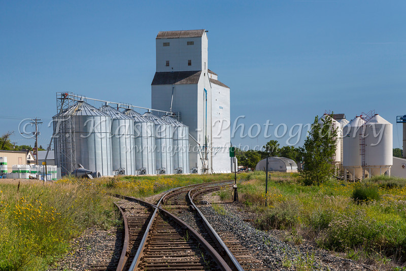 Inland grain terminal at Melita, Manitoba, Canada.
