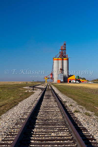 The Richardson Pioneer inland grain storage terminal near Melfort, Saskatchewan, Canada.