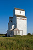The Harrison Milling and Grain Company elevators in Homefield, Manitoba, Canada.