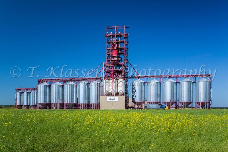 The Cargill inland grain terminal at Nesbitt, Manitoba, Canada.
