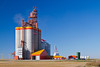 The Richardson Pioneer inland grain storage terminal near Melfort, Saskatchewan, Canada.