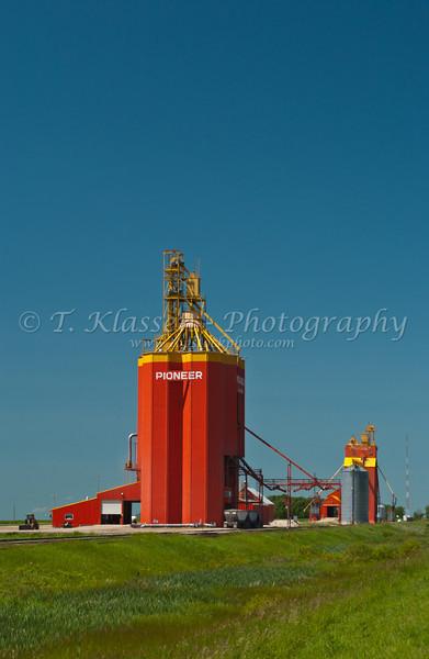 Modern Pioneer grain handling terminal at Glossup, Manitoba Canada.