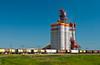 The Pioneer grain inland distribution terminal near Brunkild, Manitoba, Canada.