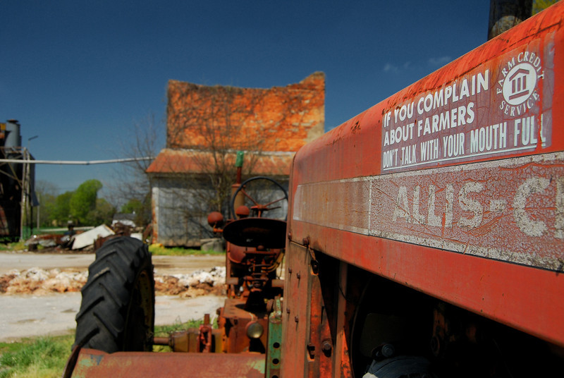 Tractor parked at the cotton gin in Bostwick, GA (Morgan County) 2008