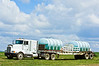 Chemical truck to support field spraying