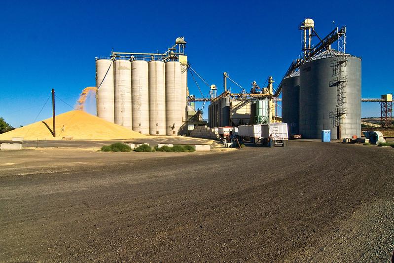 Grain storage facility in Lewiston, Idaho