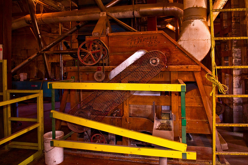 Machine used in the processing of dry peas in an elevator in the Palouse region of Washington