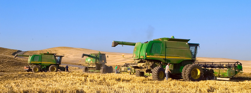 Preparing to move the combines to another field