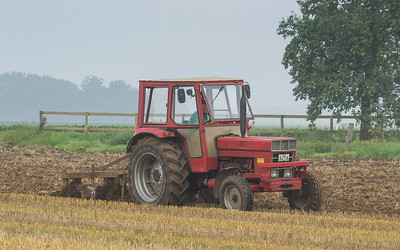 International Harvester plowing.