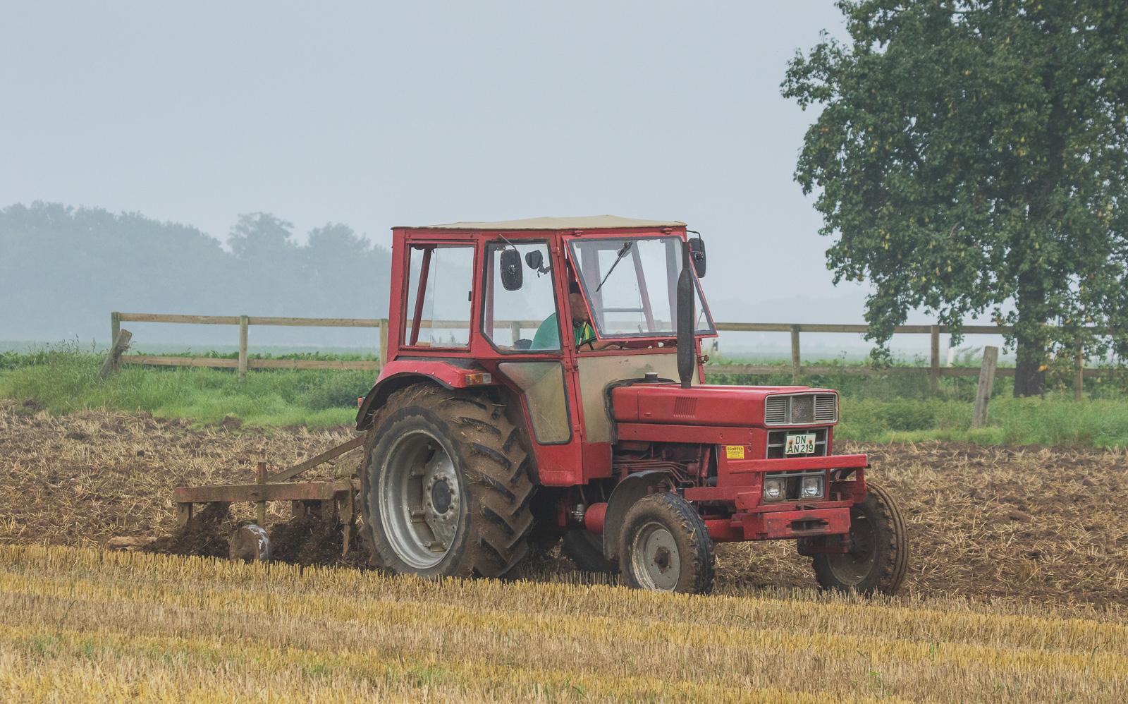 International Harvester plowing.