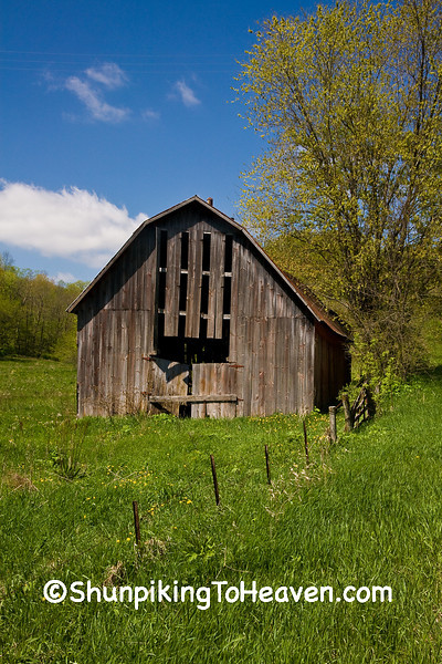 Tobacco Barn in Spring, Vernon County, Wisconsin
