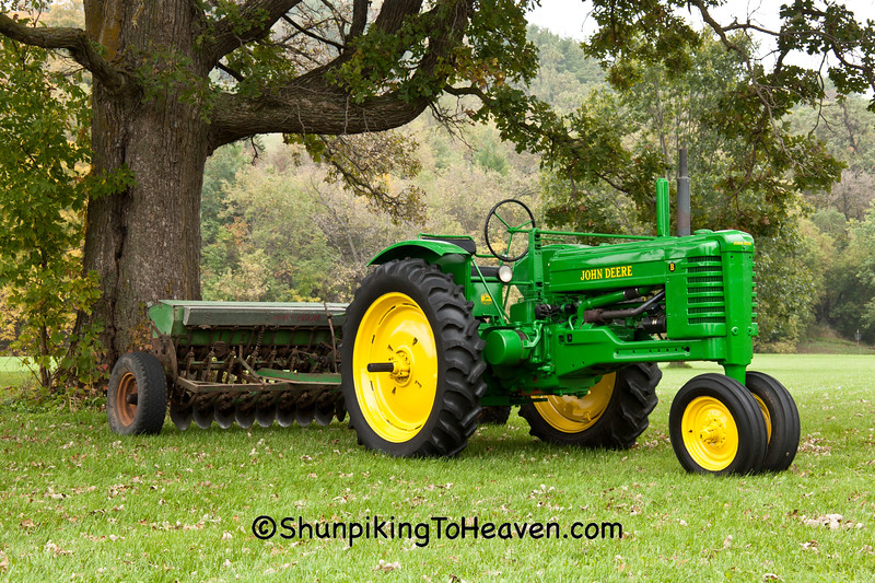John Deere B Tractor with Drill, Sauk County, Wisconsin