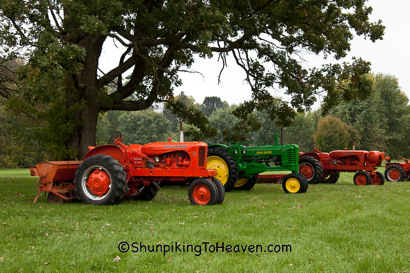 Row of Antique Tractors, 2015 Farm Art DTour, Sauk County, Wisconsin
