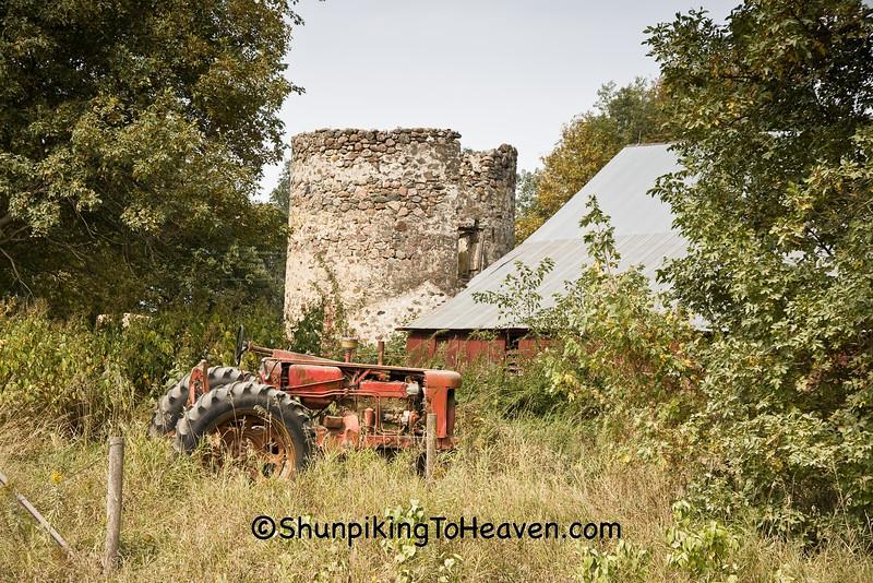 Dusty Farm Scene, Chickasaw County, Iowa