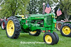 Patriotic John Deere Tractor, Sauk County, Wisconsin