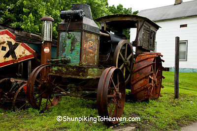 Antique Rumely Oil Pull Tractor, Benton County, Iowa